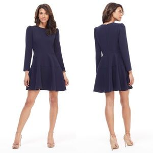 Gal Meets Glam Celeste Fit & Flare Dress Navy